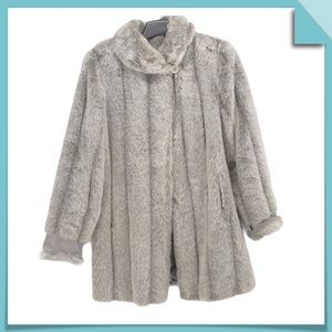 Dennis by Dennis Basso Faux Fur Coat Size S